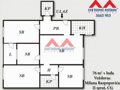 Detaljnije : STAN, 4.5, prodaja, Beograd, 76 m2, 120000e