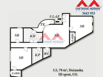 Detaljnije : STAN, 3.5, prodaja, Beograd, 79 m2, 148000e