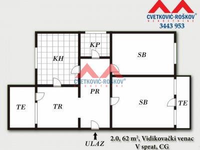 Detaljnije : STAN, 2.0, prodaja, Beograd, 62 m2, 67500e