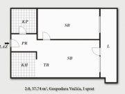 Detaljnije: STAN, 2.0, prodaja, Beograd, 57.74 m2, 152434e